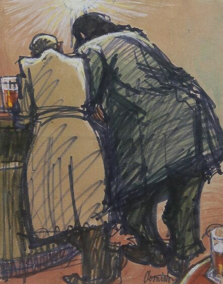 Norman Cornish, 'Men at bar', ca. 1965