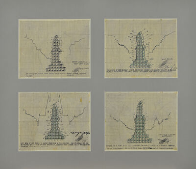 Paul Neagu, 'The Melville Statue Divided on 42 Portions. 42 Cells Concept', 1969-1971