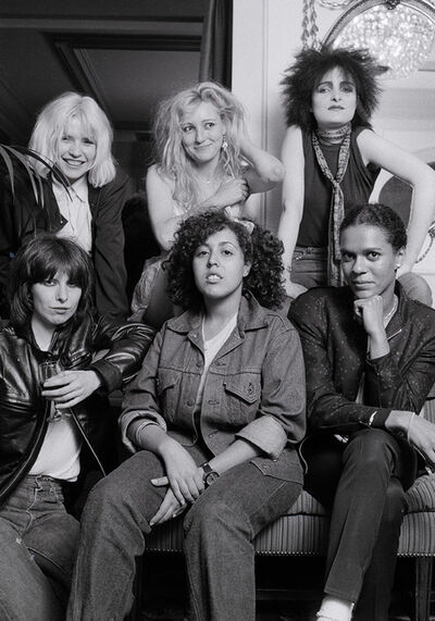 Michael Putland, ''Ladies Tea Party', London, 1980 - Debbie Harry, Viv Albertine of The  Slits, Siouxie Sioux, Chrissie Hynde, Poly Styrene of X-Ray Spex and Pauline Black of The Selector', 1980