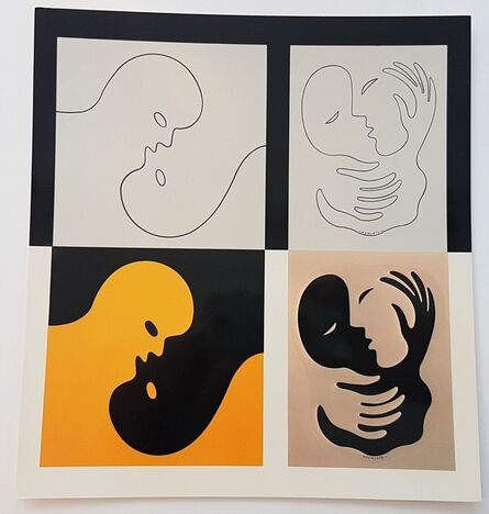 Victor Vasarely, 'Amor I and Catch II', 1977