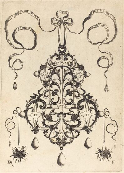 Daniel Mignot, 'Large Pendant, Lower Left and Right Two Bunches of Grass and Fruit', 1596