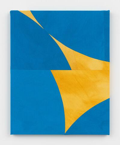 Sarah Crowner, 'Blue Wings (Ochre Backlight)', 2019