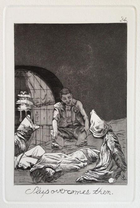 Emily Lombardo, 'Sleep overcomes them, from The Caprichos', 2013