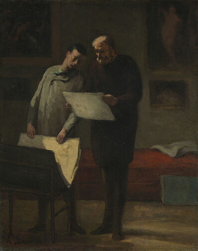 Honoré Daumier, 'Advice to a Young Artist', 1865/1868
