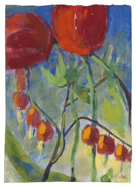Emil Nolde, 'Tränende Herzen und Tulpen', ca. 1948/50
