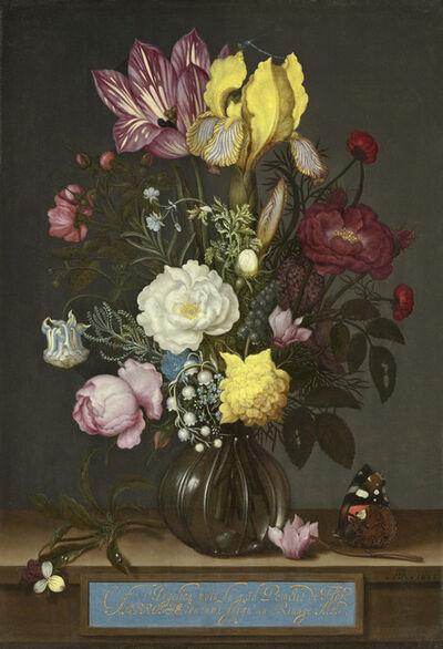 Ambrosius Bosschaert the Elder, 'Bouquet of Flowers in a Glass Vase', 1621