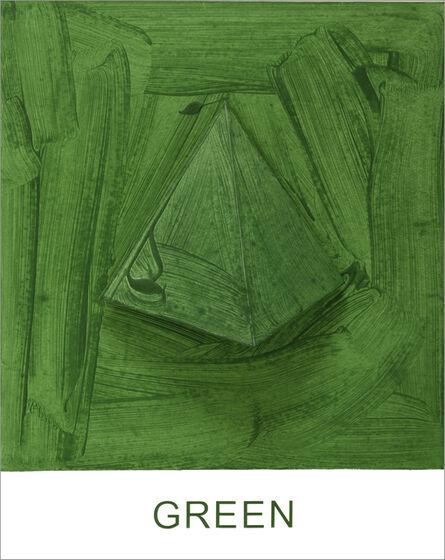 John Baldessari, 'Eight Colorful Inside Jobs: Green', 2017