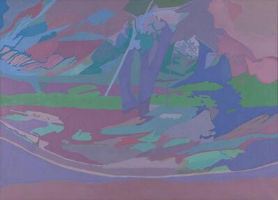 Ralph Wickiser, 'Blue Apple Tree', 1990