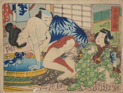 Utagawa Toyokuni III (Utagawa Kunisada), 'At the Bath', ca. 1845