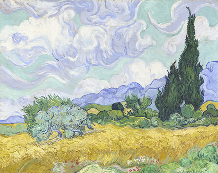 Vincent van Gogh, 'Wheat Field with Cypresses', early September 1889