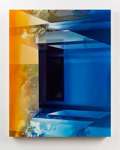 Patti Oleon, 'LA Apartment Lobby (Yellow and Blue)', 2019