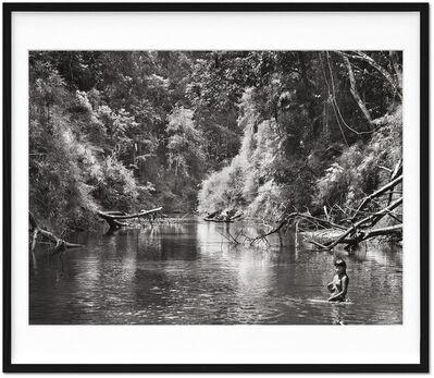 Sebastião Salgado, 'Sebastião Salgado. Amazônia. Limited & Signed Black and White Photographic Print (101-200) 'Young Hatiri Suruwahá bathes in a backwater of the Pretão stream'', 2021