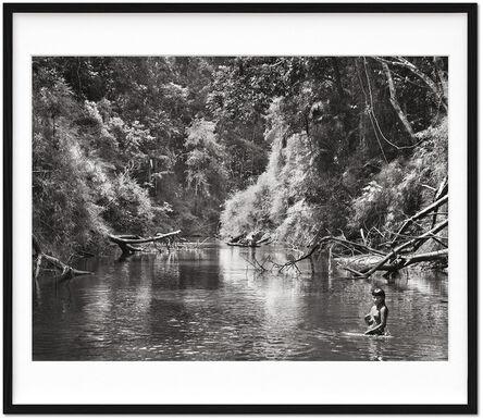 Sebastião Salgado, 'Sebastião Salgado. Amazônia. Limited & Signed Black and White Fine Art Print (101-200) 'Young Hatiri Suruwahá bathes in a backwater of the Pretão stream'', 2021