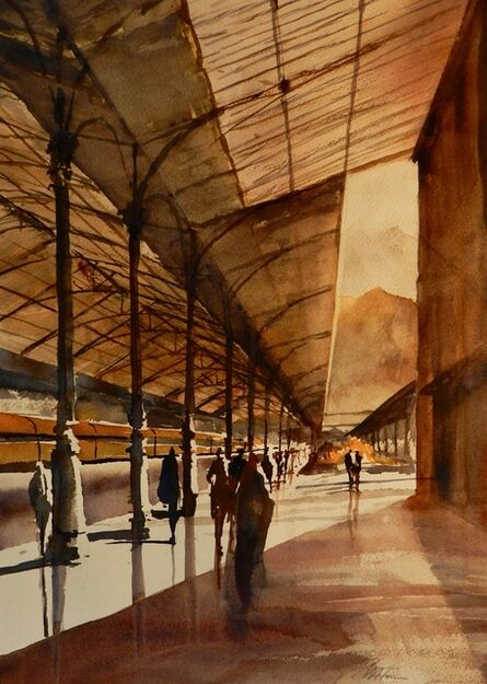 Steven Foote, 'Morning at the Sao Bento Station in Porto'