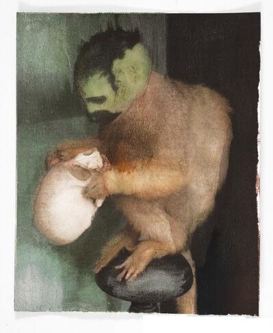 Kobi Assaf, 'Monkey With Skull', 2014