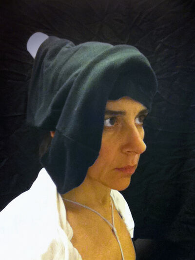 """Nina Katchadourian, 'Lavatory Self-Portrait in the Flemish Style #17 (""""Seat Assignment"""" project, 2010--ongoing)', 2011"""