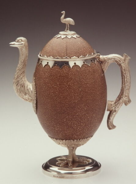 Evan Jones (1846-1917), 'Emu egg teapot ', ca. 1870