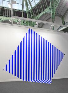 Daniel Buren, 'De travers et trop grand - bleu', 2013