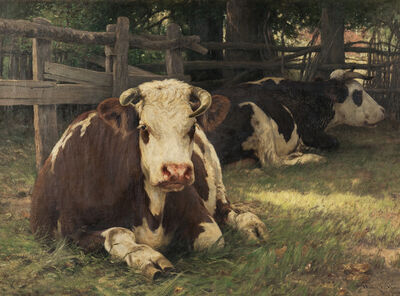 William Henry Howe, 'Repose, September Days in Normandy'