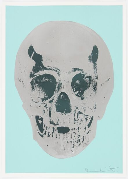 Damien Hirst, 'Heavenly Peppermint Green Silver Gloss Racing Green Skull', 2012