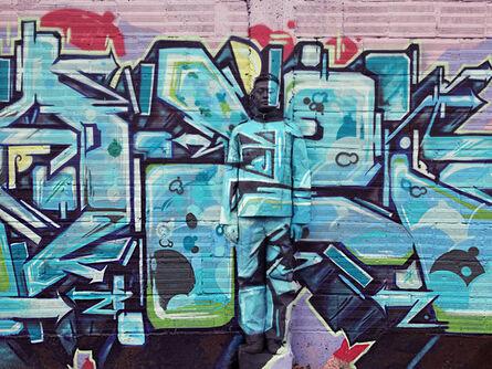 Liu Bolin, 'Hiding in Colombia - Graffiti', 2013