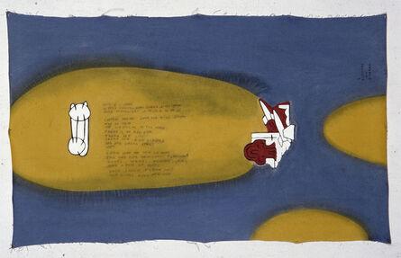 Leonilson, '2 rapazes na guerra (2 boys on the war)', 1989