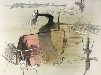 Wifredo Lam, 'Untitled from ''Visible Invisible'' folder', 1972