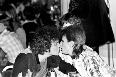 Mick Rock, 'Lou Reed Bowie Kiss', 1973
