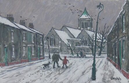 Norman Cornish, 'Edward Street snow scene'