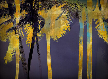 Valda Bailey, 'Sacred Palm - Rose Gold leaf on Museum Glass', 2019