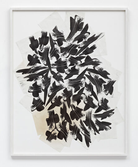 Thomas Bayrle, 'Komposition aus Pinselkreuzen', 1987