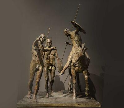 Christophe Charbonnel, 'Groupe de guerriers, plaque II', 2010