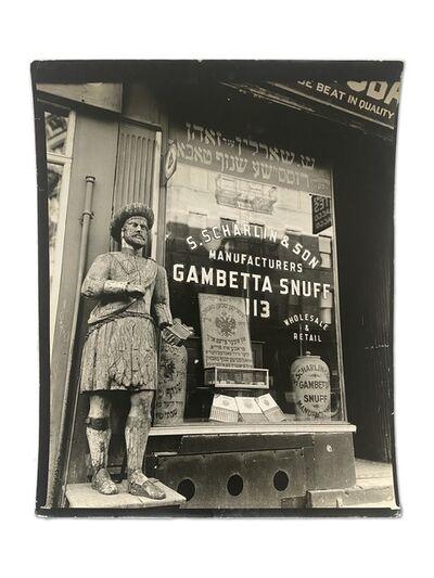 Berenice Abbott, 'Snuff Shop, 113 Division Street, Manhattan, January 26', 1938