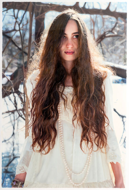 """Yigal Ozeri, 'Untitled """"Lizzie in the Snow""""', 2014"""