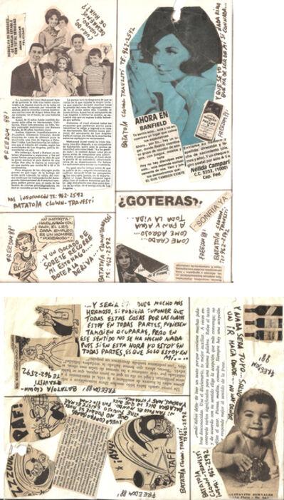 Batato Barea, 'Untitled (Flyer/ collage for Freedom Disco)', 1988