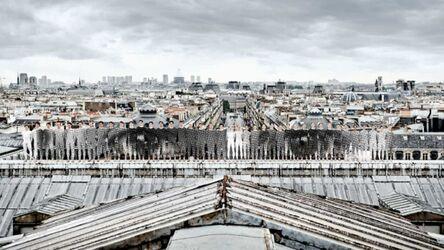 JR, 'Ballet, Regard sur les toits de Paris, depuis le toit du Palais Garnier', 2014