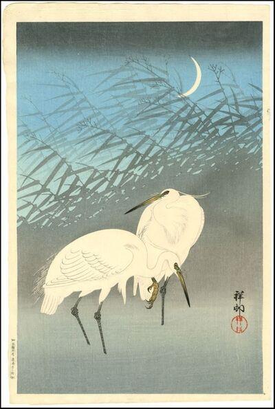 Ohara Koson, 'Herons in Reeds', 1926