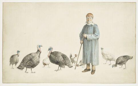 Josephus Augustus Knip, 'A Boy with his Turkeys', ca. 1810