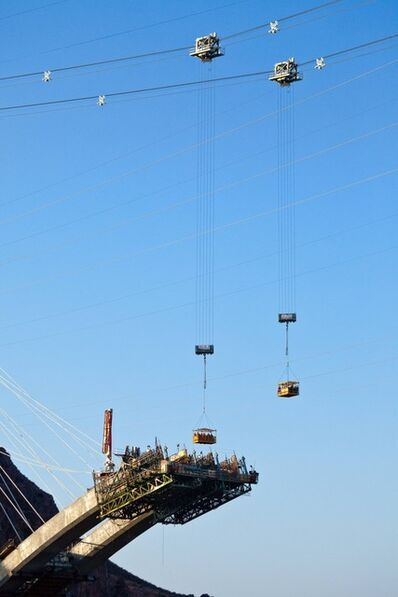 Jamey Stillings, 'Ironworkers, Nevada Arch Segment, July 1', 2009
