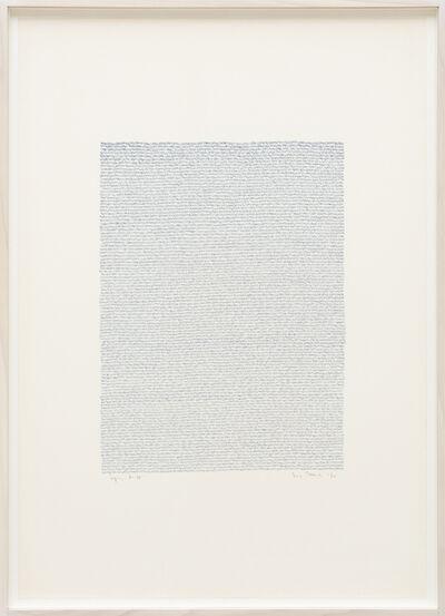 Irma Blank, 'Eigenschriften, Pagina A-31', 1970