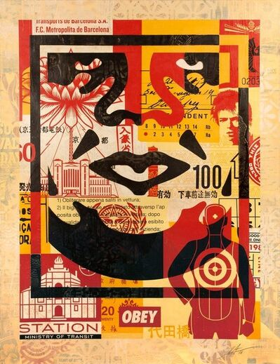 Shepard Fairey, 'Giant Collage'