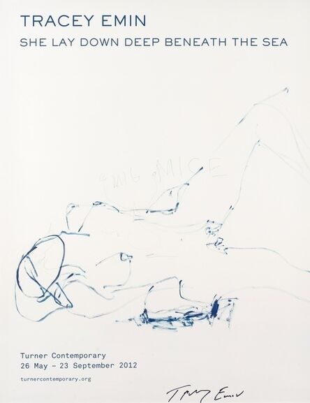 "Tracey Emin, '""SHE LAY DOWN DEEP BENEATH THE SEA"" HS EDITION', 2012"