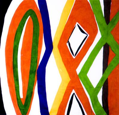 Kim MacConnel, 'Untitled #1. (black, white, orange, green, purple, yellow, brown)', 2004