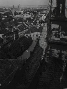 Jaromír Funke, 'Cathedral, Rooftops, Louny, Prague', ca. 1940