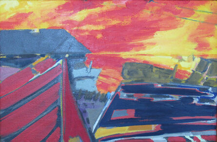George Bayliss, ''Boats and Sunrise, by George Bayliss, Oil on Canvas Painting', 2008