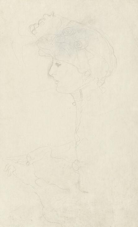 Gustav Klimt, 'Portrait of a Woman in Profile, Facing Left', 1904-1905