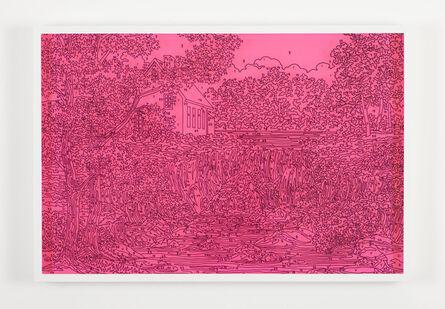 Trey Speegle, 'Abstract Waterfall (fluorescent pink)', 2013