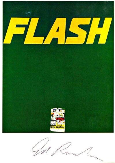 Ed Ruscha, 'FLASH LA Times, 1963 (Hand Signed)', ca. 1993