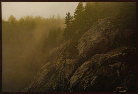 David K Aimone, 'Monhegan Cliffside in Fog'