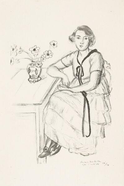 Henri Matisse, 'La robe jaune au ruban noir', 1922